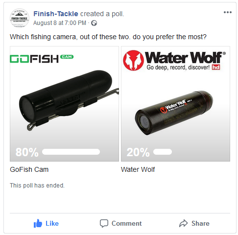 GoFish Cam vs Water Wolf - Facebook Poll