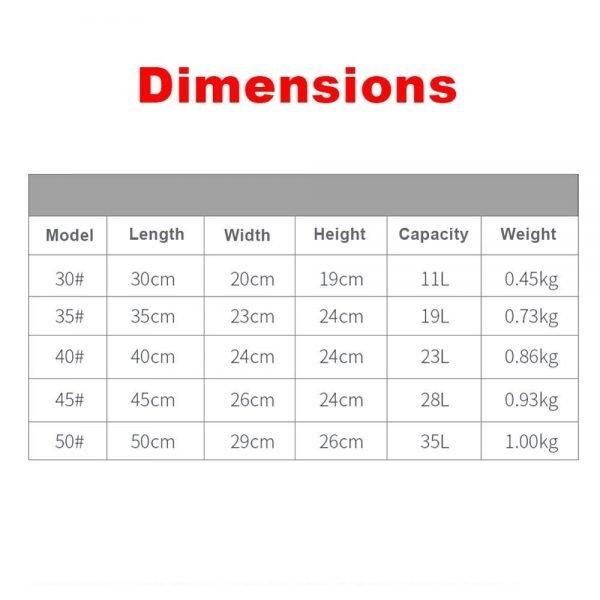 Foldable Waterproof Fishing Bucket - Bucket Dimensions