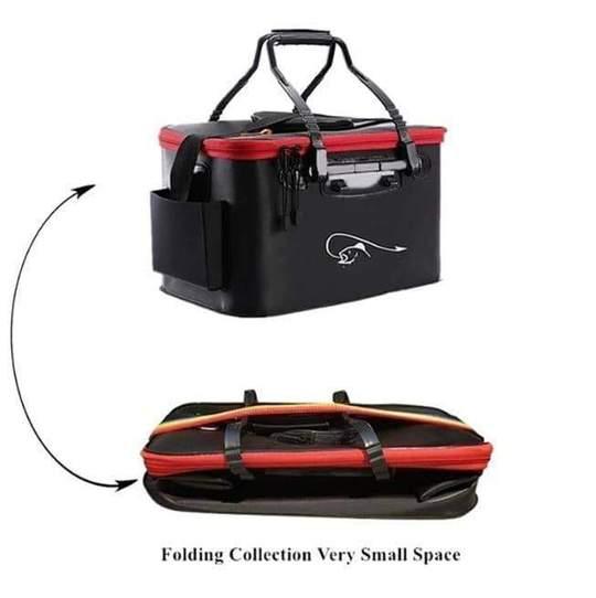 Foldable Waterproof Fishing Bucket - Folding