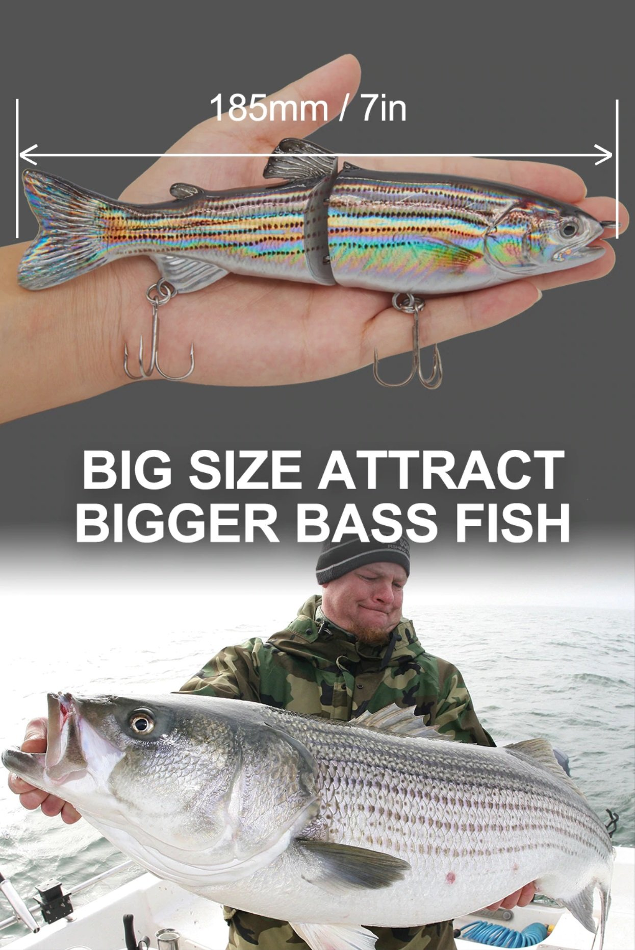Glide Bait Waver 185 - Bigger baits catches bigger fish