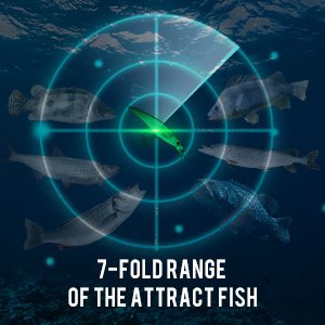 Luminous Vibrating Jerkbait - 7 foldrange of the Attract Fish