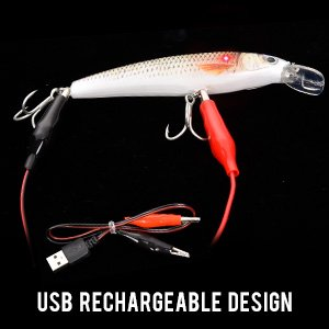 Luminous Vibrating Jerkbait - USB Rechargeable Design
