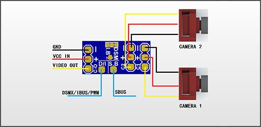 VIFLY Cam Switcher - Wiring Diagram