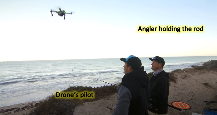 what is a fishing drone - it needs two for a tango