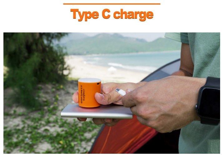 GIGA Pump 2.0 - Type C Charging