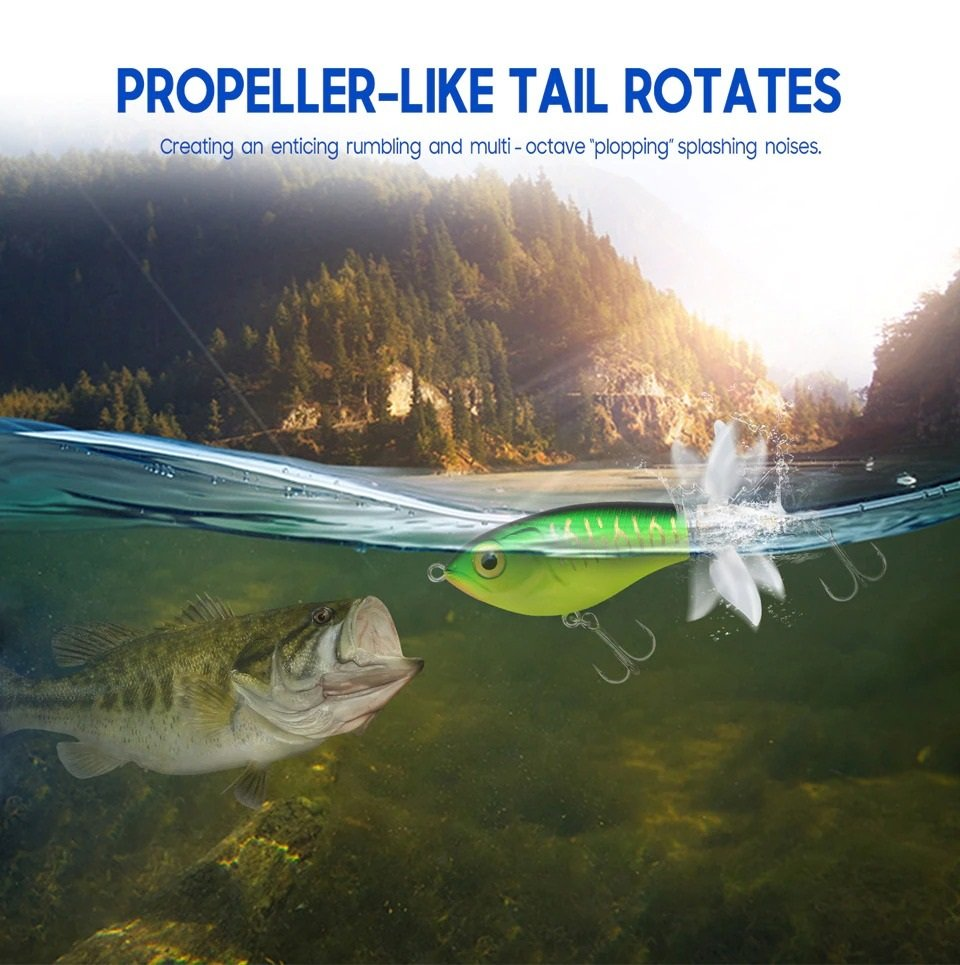 Whopper Plopper Double Propeller - Tail Rotate