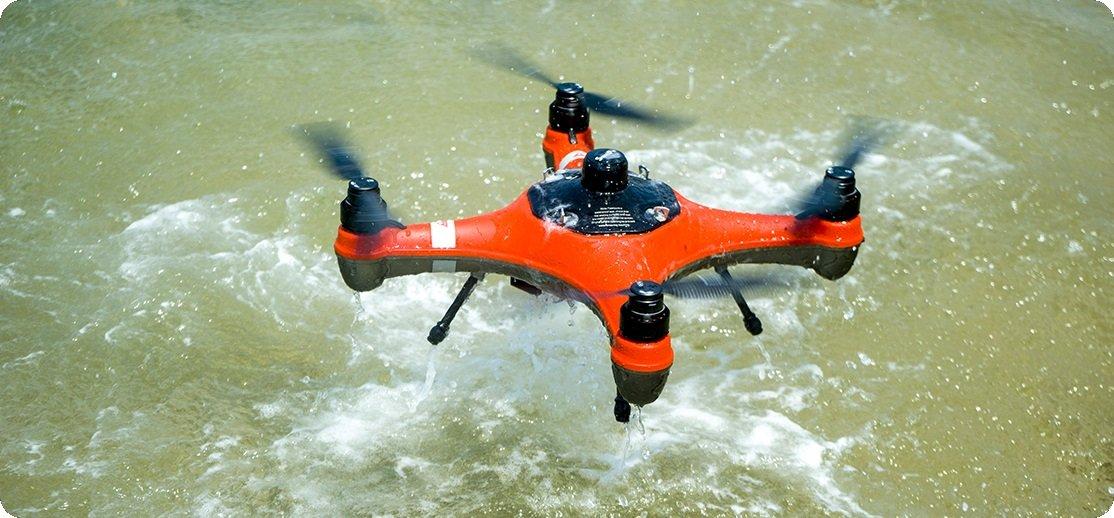 SwellPro Fisherman Drone in water